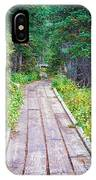 Colorado Rocky Mountain Forest Path IPhone Case
