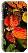 Colorful Blackberry Leaves 1 IPhone Case