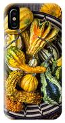 Colorful Gourds In Basket IPhone Case