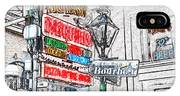 Colorful Neon Sign On Bourbon Street Corner French Quarter New Orleans Colored Pencil Digital Art IPhone Case
