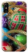 Colorful Ornaments With Ribbon IPhone Case