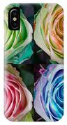 Colorful Rose Spirals IPhone Case