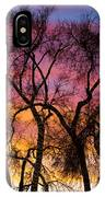 Colorful Silhouetted Trees 26 IPhone Case