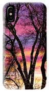 Colorful Silhouetted Trees 33 IPhone Case