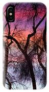 Colorful Silhouetted Trees 9 IPhone Case