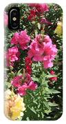 Colorful Snapdragons In San Antonio IPhone Case