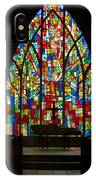 Colorful Stained Glass Chapel Window IPhone Case