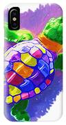 Colorful Turtle IPhone Case