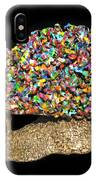 Colorful Welded Steel Encaustic On Wood Sculpture IPhone Case