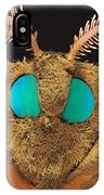 Coloured Sem Of The Head Of A Silk Moth, Bombyx Sp IPhone Case