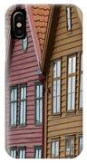 Colourful Houses In A Row Bergen Norway IPhone Case