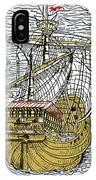 Columbus's Ship The Santa Maria IPhone Case