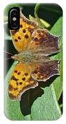 Comma Anglewing Butterfly - Polygonia C-album IPhone Case