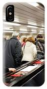 Commuters On Escalators In Prague Metro IPhone Case