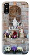 Comparison Mother Mary Shrine IPhone Case
