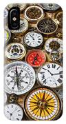 Compases And Pocket Watches  IPhone Case