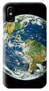 Composite Image Of Whole Earth Blue IPhone Case