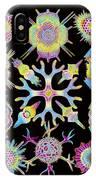 Computer Art Of Radiolarians (from Ernst Haeckel) IPhone Case