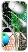 Computer Artwork Of Internet Communication IPhone Case