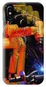 Computer-controlled Electric Arc-welding Robot IPhone Case