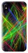 Computer Generated Lines Abstract Fractal Flame Black Background IPhone Case