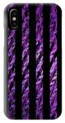 Computer Generated Magenta Abstract Fractal Flame Black Backgroud IPhone Case