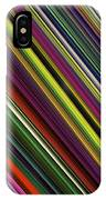Computer Generated Stripe Abstract Fractal Flame Black Background IPhone Case