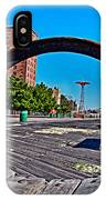 Coney Island Bench View IPhone Case
