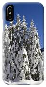 Coniferous Forest In Winter IPhone Case
