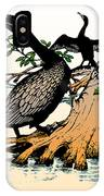 Cormorants On Mangrove Stumps Filtered IPhone Case