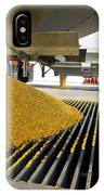 Corn At An Ethanol Processing Plant IPhone Case
