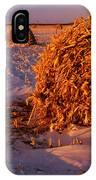 Corn Bales At Sunset, Dugald, Manitoba IPhone Case