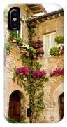 Corner Of Flowers IPhone Case