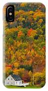 Cottage In Front Of Autumn Colours IPhone Case