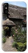 Cottage With Flowers IPhone Case