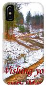 Country Lane Holiday Card IPhone Case