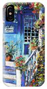 Country Porch And Flowers By Prankearts IPhone Case