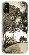 Couple On The Bench In Venice IPhone Case