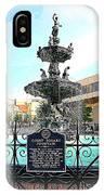 Court Square Fountain IPhone Case