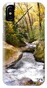 Courthouse River In The Fall 2 IPhone Case