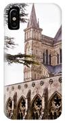 Courtyard Salisbury Cathedral - England IPhone Case