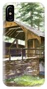 Covered Bridge At Knoebels  IPhone Case