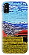 Cows Pasture Barns Superspecialeffect IPhone Case