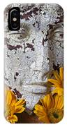Cracked Face And Sunflowers IPhone Case