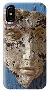 Cracked Face On Blue Wall IPhone Case