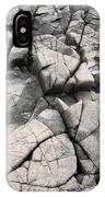 Cracked Rocks On Shore IPhone Case