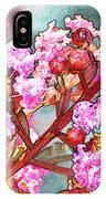 Crape Myrtle Blank Greeting Card IPhone Case