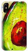 Crazy Avocado 2 - Modern Art IPhone Case