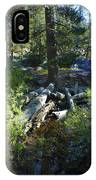 Creek In White Wolf IPhone Case