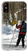 Cross Country Skier On Cape Cod IPhone Case